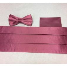 Set: fluga och gördel och näsduk (gammal rosa)*FRI FRAKT*