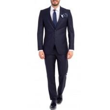 Kostym figursydd marinblå