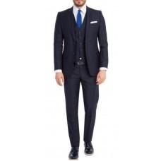 Kostym figursydd mörkgrå