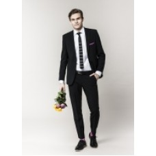 Svart figursydd kostym tailor